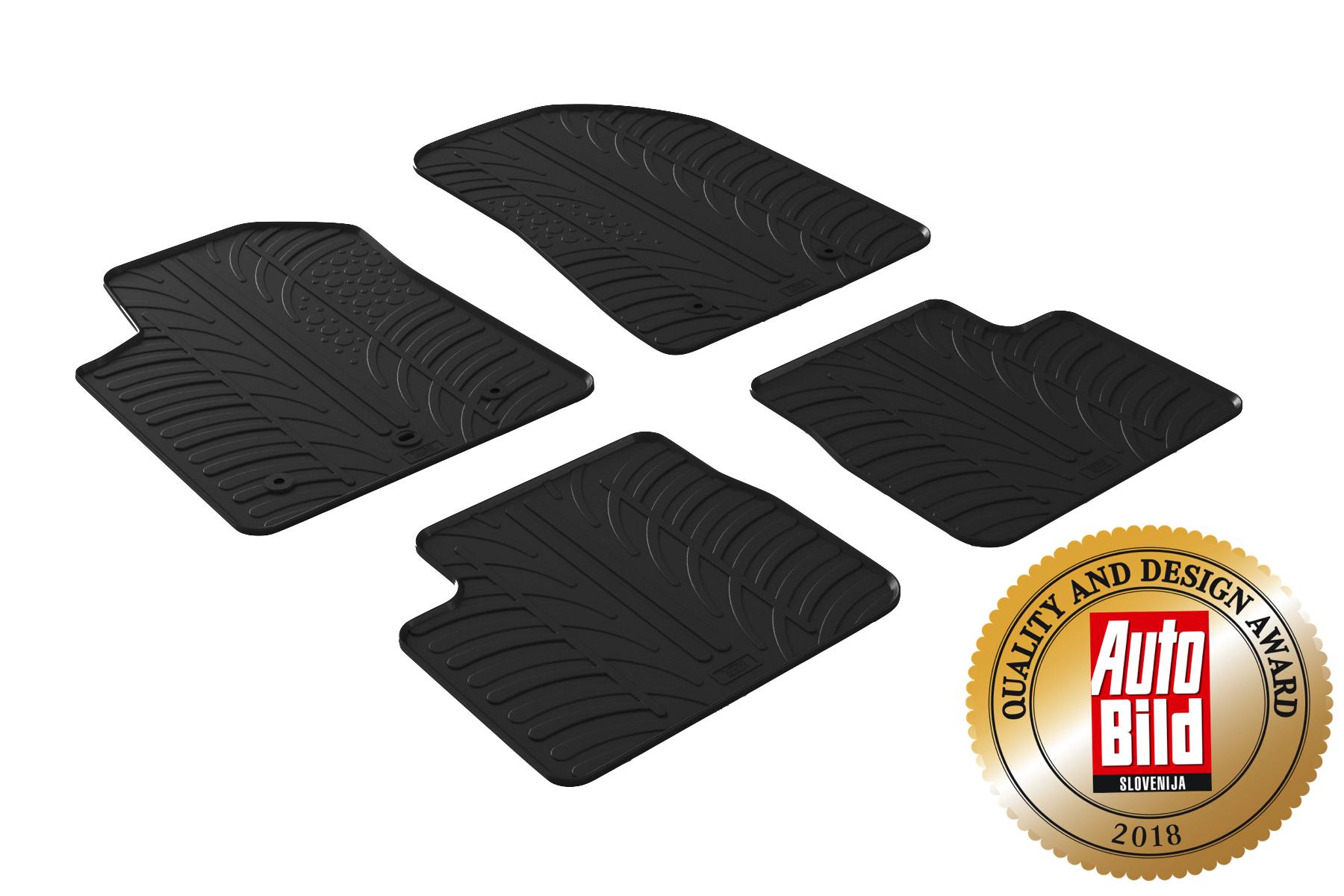 Design Passform Gummimatten Gummi Fußmatten Alfa Romeo Giulia auch Quadrifoglio