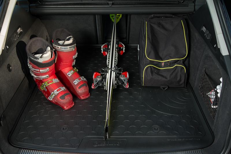Design Gummi Kofferraumwanne Kofferraummatte für Seat Ateca mit fixem Ladeboden